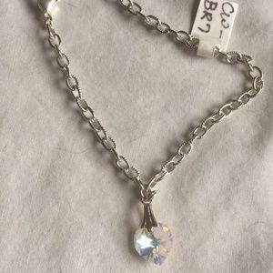 Jewelry - Crystal heart bracelet nwt